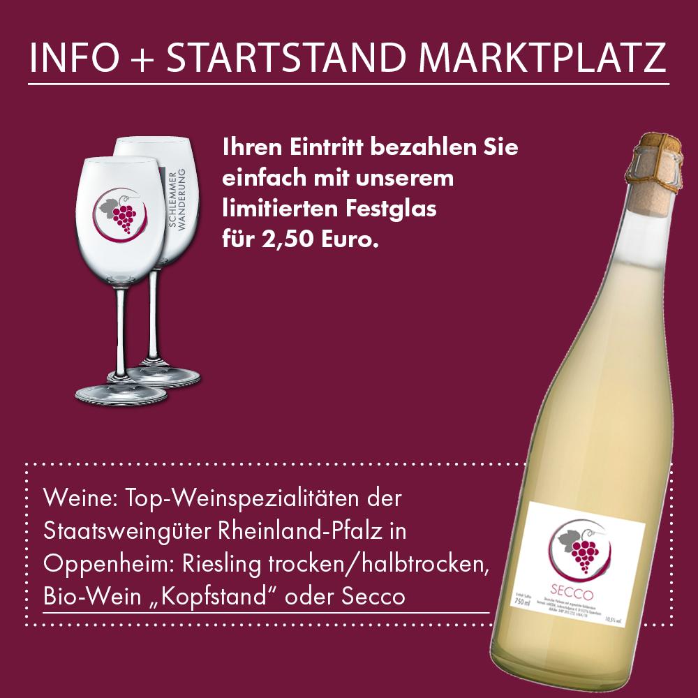 Info + Startstand Marktplatz Oppenheim